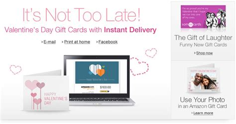 Amazon Email Gift Card Not Delivered - forgot a valentine s day gift it s not too late with amazon s gift cards with instant