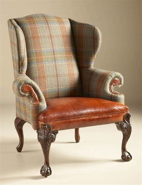 tartan wingback chair maitland smith 4330 879 relaxed hunt club finished wing
