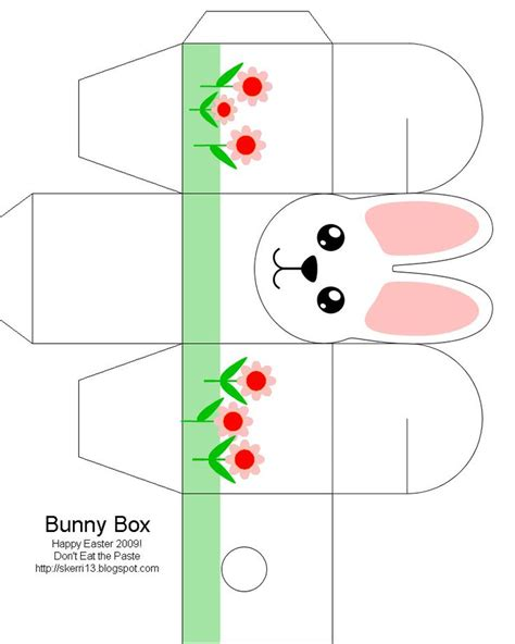 easter box templates free easter box easter bunny easter crafts for free