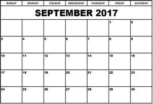 Calendar 2017 September And October Printable September 2017 Calendar Canada Calendar Printable Free