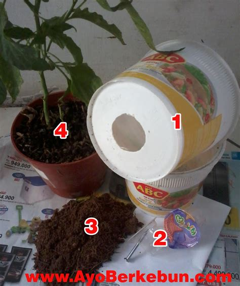 membuat pot hidroponik membuat self watering pot ayo berkebun