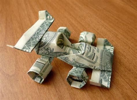 Two Dollar Bill Origami - dollar bill origami race car made with two one dollar