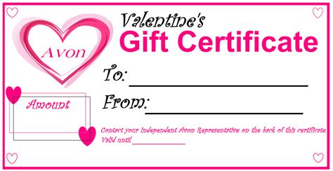 does avon have gift certificates gift ftempo