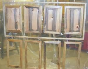 Spraying Cabinet Doors Log Hutch Doors Ready To Apply Finish Coats