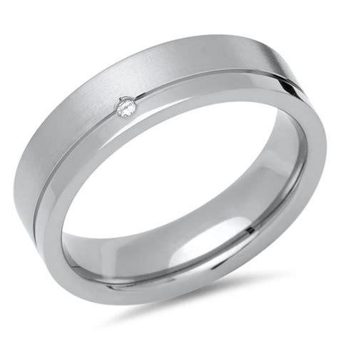 Diamant Trauring by Trauringe Titan Eheringe Diamant Gravur Tr0107s