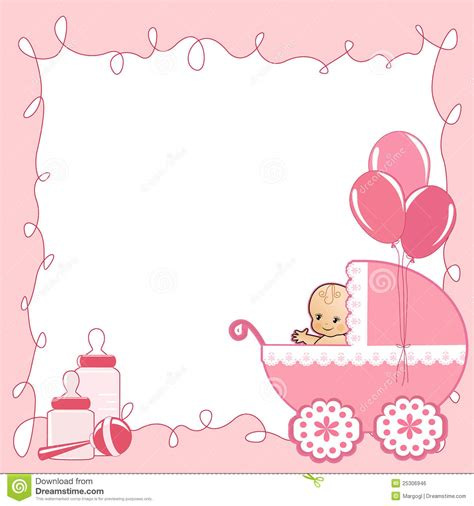 free baby shower gift card templates baby shower card stock vector illustration of