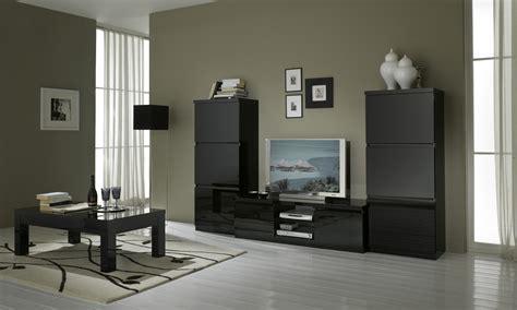 meuble cuisine laqué noir enchanteur ensemble meuble salon avec meuble tv design