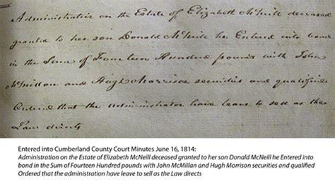 Robeson County Court Records Estates Records