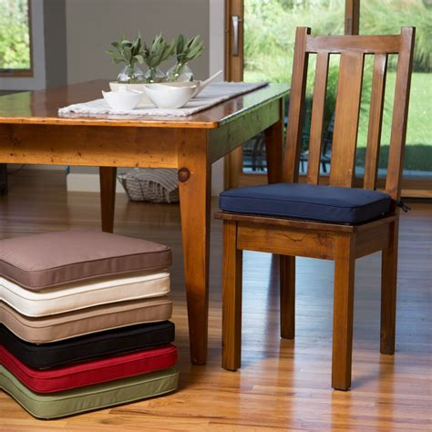Dining Table Chair Cushions Dining Room Cozy And Efficient Chair Cushions With Ties On Fashion Cloth Dining Table Chair Pad