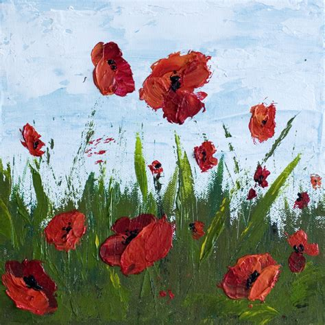how to paint acrylic on canvas flowers how to paint poppy flowers with acrylic paint and a
