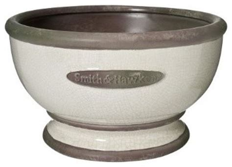 smith hawken stafford bowl traditional outdoor pots