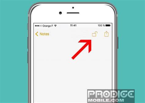 cadenas haut iphone iphone prot 233 ger l acc 232 s 224 vos notes avec un mot de passe