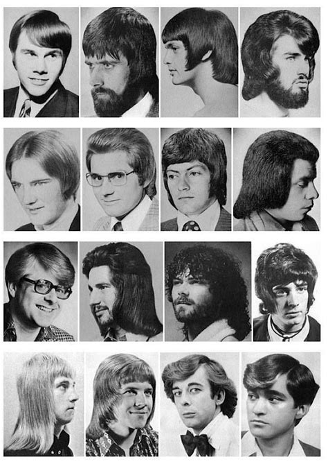 1970s men hairstyles look attractive and stylish 60s and 70s men s hair styles barber shop pinterest