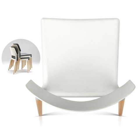 set of 4 belloch replica dining chair white