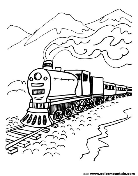 coloring railroad tracks coloring pages