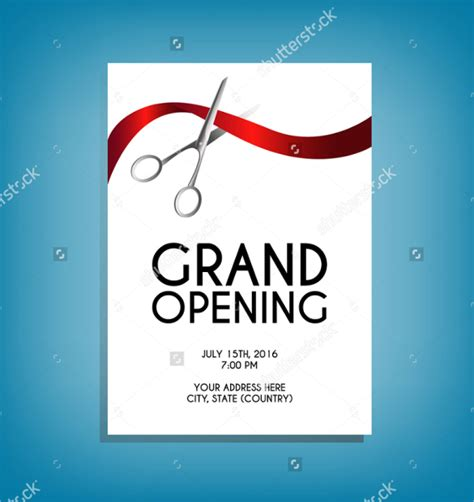 grand opening flyer templates word excel sles