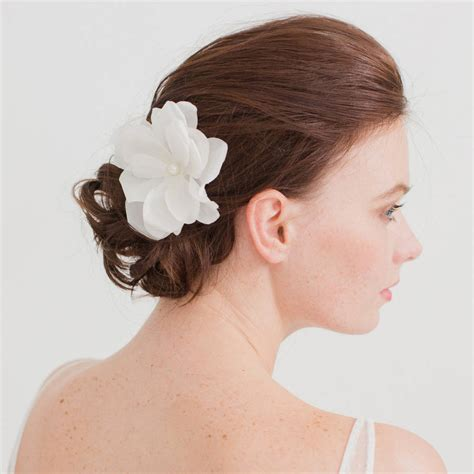 Silk Flowers Hair Wedding by Silk Flower Wedding Hair Comb By Britten Weddings