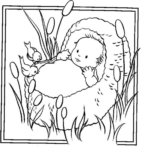 bible story coloring pages baby moses photos baby moses coloring pages moses baby