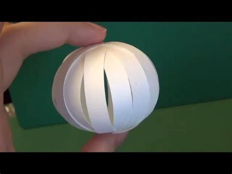 How To Make Paper Sphere - 紙で作る球体 ペーパークラフト quot sphere made from paper quot papercraft