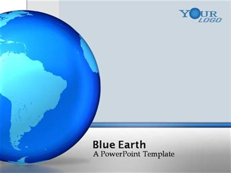templates powerpoint earth blue earth a powerpoint template from presentermedia com