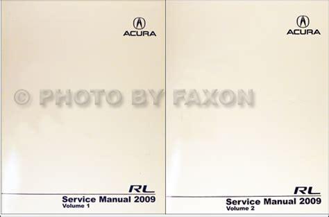 car repair manuals online pdf 2009 acura rl transmission control 2009 acura rl repair shop manual original 2 volume set