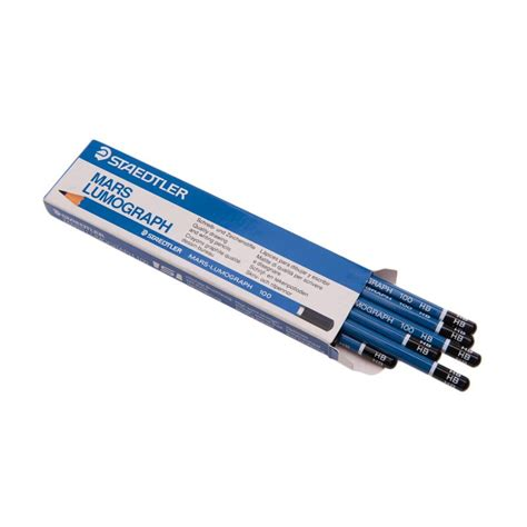 Pensil Hb jual staedtler lumograph hb blue pensil 12 pcs