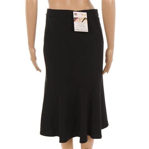 marella skirt black knee length wool flared size 40
