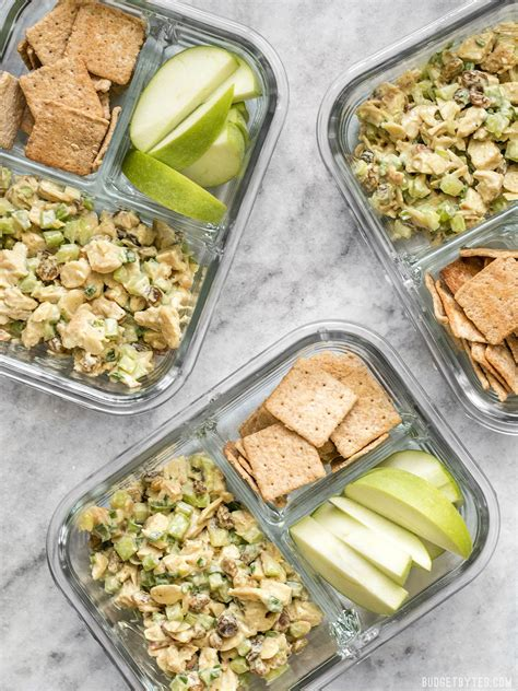 Easy Detox Lunches by Curry Chicken Salad Meal Prep Curried Chicken Salads