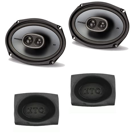 Speaker X9 kicker ksc693 ks series 6 quot x9 quot coaxial speaker package with bass blocker pair ebay