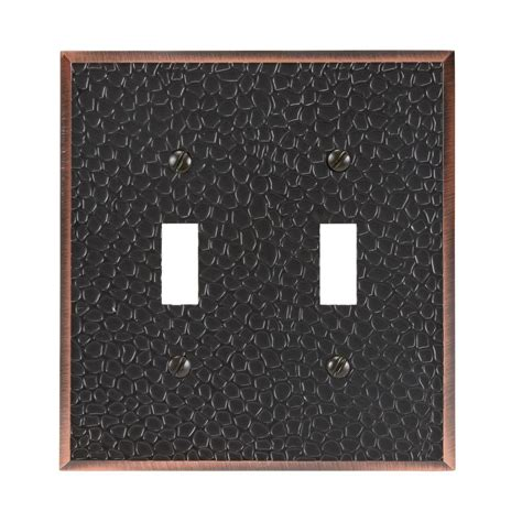 amerelle grayson 1 duplex wall plate copper and the home amerelle grayson 2 toggle wall plate copper and bronze