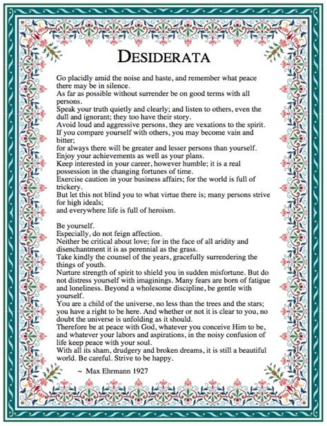 printable version desiderata desiderata max ehrmann 1927 related keywords desiderata
