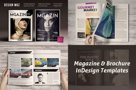 Magazine Brochure Indesign Templates On Behance Magazine Brochure Template