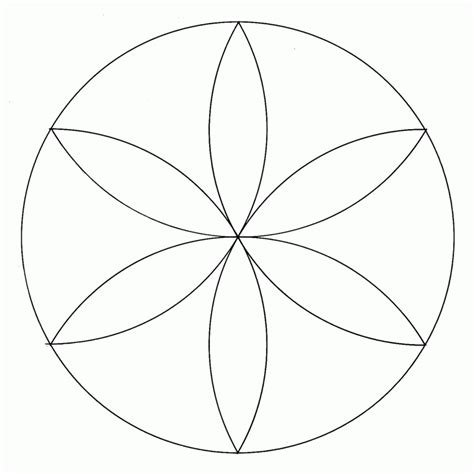 Nonagon Only With Compass Sacred Geometry Az Sacred Geometry Coloring Pages