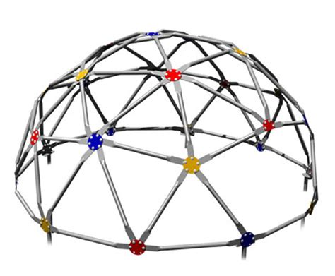 geo dome with colored connectors