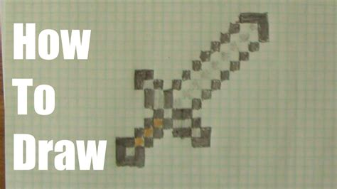 How To Make A Minecraft Paper Sword - how to draw a minecraft sword doovi