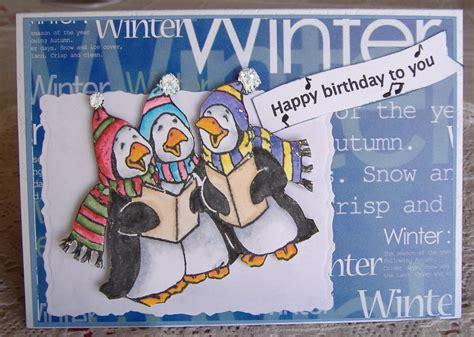 Winter Birthday Cards My Crafting Corner Winter Birthday Card