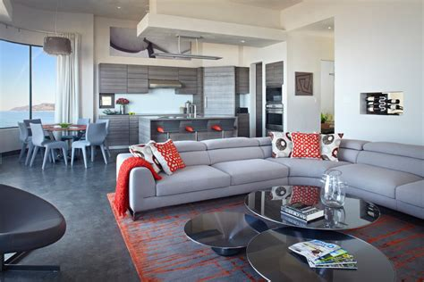 Roche Bobois Pillows by Roche Bobois Living Room With Orange Throw