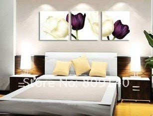 painting canvas modern white purple flower decoration