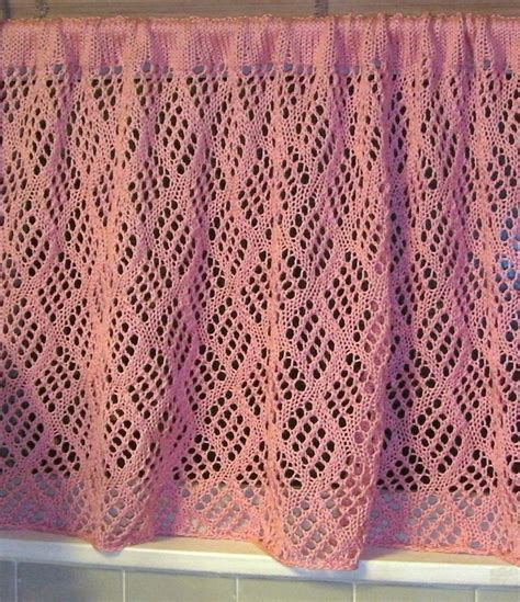 knitted curtains 1000 ideas about crochet curtain pattern on