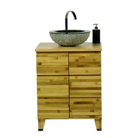 waschtisch bambus teak holz zen waschtisch natur 60x40x74cm