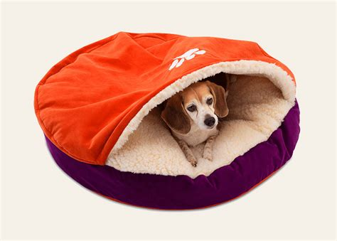 cave pet bed clemson superfan luxury cozy cave 174 dog bed snoozer u