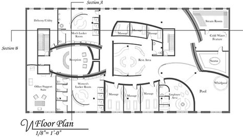 day spa floor plans day spa project newbury street boston ma on behance