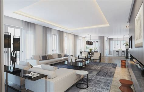 luxury apartments room interior design rendering visualizing a sophisticated penthouse design in stunning
