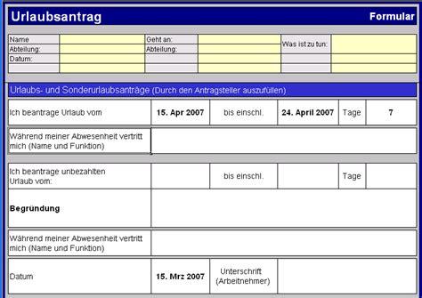 Urlaubsantrag Schreiben Muster Urlaubsantrag Muster Invitation Templated
