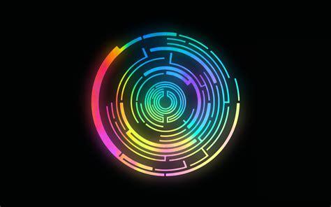 wallpaper abstract circles glowing wallpaper 1680x1050 57449