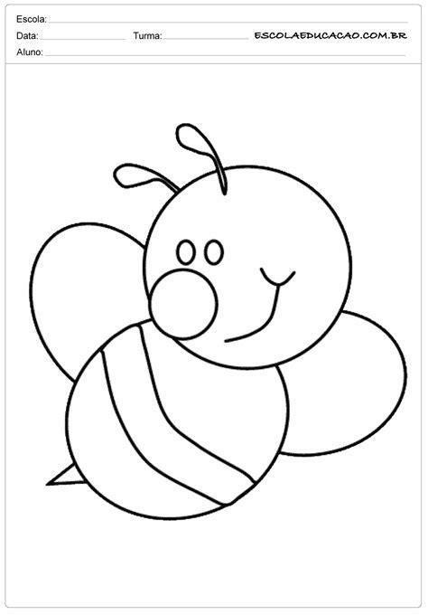 Moldes para primavera de abelha - Escola Educação