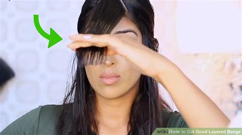 how to part hair to cut bangs 3 ways to cut good layered bangs wikihow