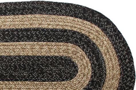 Black Braided Rugs by Ohio Country Black Brown Braided Rug