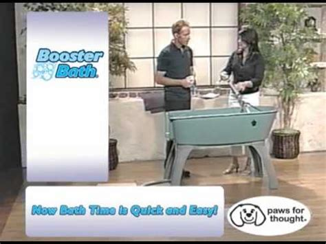 raised dog bathtub elevated plastic dog bath tub the booster bath youtube