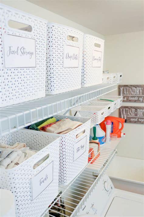 Laundry Room Storage Bins Easy As Pie Laundry Room Organization